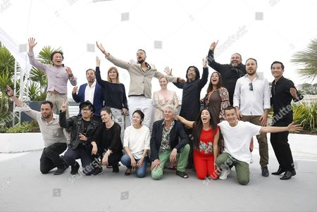 Stock Image of Participants pose during the LES REALISATEUR DE L?ATELIER  photocall at the 70th annual Cannes Film Festival, in Cannes, France, 22 May 2017. The festival runs from 17 to 28 May. Pictured: Kamar Ahmad Simon, Lei Lei, Marie Sorensen, Yanillys Perez, Yona Rozenkier, Carlos Armella, Byamba Sakhya, Firas Khoury, Ruxandra Ghitescu, Wong Chen-Hsi, Jahmil X.T. Qubeka, Rana Kakzaz, Anas Khalaf, Emily Young, Pham Ngoc Lan and  Le Bao