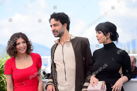 Stock Image of Kaouther Ben Hania, Ghanem Zrelli and Mariam Al Ferjani