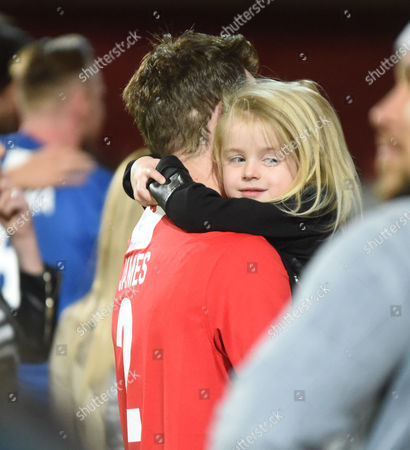 Jay James with daughter