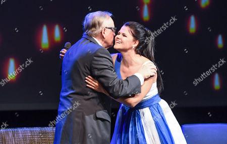 Stock Picture of Martti Ahtisaari and Saara Aalto