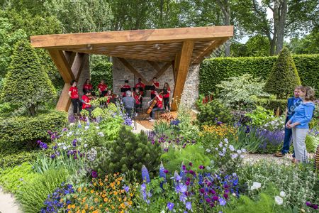 Katie Derham on The Morgan Stanley Garden with the National Youth Orchestra