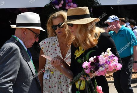 Rupert Murdoch, Suzanne Wyman and Jerry Hall Murdoch