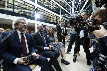 Can Dundar, Martin Schulz and Aydan Ozoguz