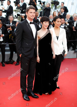 Josh Hartnett, Shinobu Terajima, Atsuko Hirayanagi Actors Josh Hartnett, from left, Shinobu Terajima and Atsuko Hirayanagi pose for photographers upon arrival at the screening of the film The Killing Of A Sacred Deer at the 70th international film festival, Cannes, southern France
