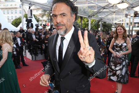 Director Alejandro G Inarritu poses for photographers upon arrival at the screening of the film The Killing Of A Sacred Deer at the 70th international film festival, Cannes, southern France