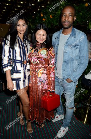 Chanel Iman, Alison Tay with guest