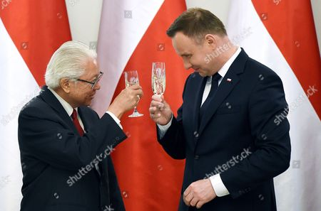 Andrzej Duda and Tony Tan Keng Yam