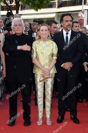 Stock Picture of Germano Celant, Miuccia Prada, Alejandro Gonzalez Inarritu