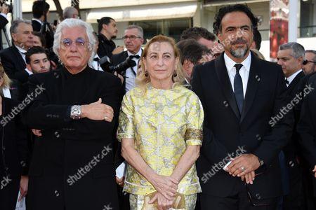 Germano Celant, Miuccia Prada, Alejandro Gonzalez Inarritu