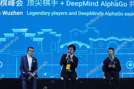 Stock Image of Demis Hassabis, Ke Jie and David Silver