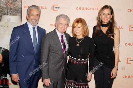 Charles S. Cohen (Chairman, CEO Cohen Media Group), Regis Philbin, Joy Philbin, Clo Cohen