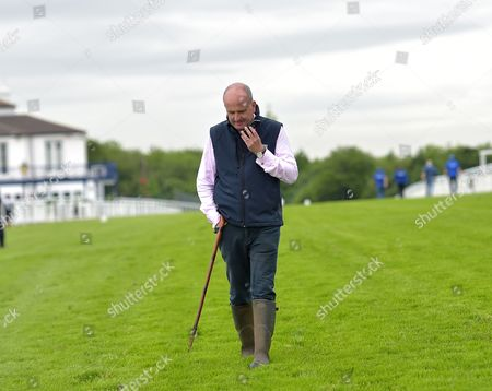 Andrew Cooper, Clerk of the Course on the gallops at Epsom Racecourse on Tuesday 23rd June 2017, as they prepare for The Derby which will be run on 3rd June.