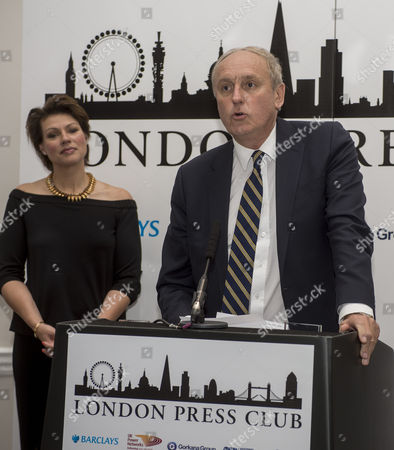 Editorial picture of Paul Dacre. Daily Mail Editor-in-chief Paul Dacre Receiving An Award For Daily Newspaper Of The Year At The Annual London Press Club Awards Ceremony. Picture David Parker 5/4/2016.