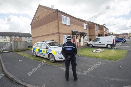 Editorial image of House In Spalding Lincolnshire Where Elizabeth Edwards (liz Edwards) And Her Daughter Katie Were Killed On Friday. Two 14-year-olds Are Charged With Murders Of The Dinner Lady And Her Daughter 13 Who Were Found Stabbed To Death. Picture David Parker
