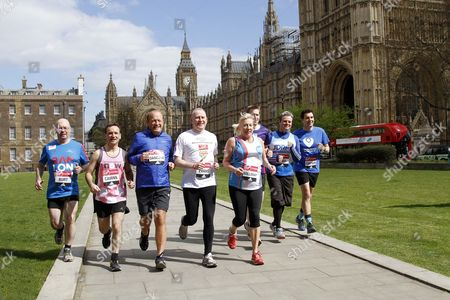 Westminster Mps Who Are Running In Sunday's London Marathon. Alistair Burt Alun Cairns Edward Timpson Dan Jarvis Graham Evans Jamie Reed Amanda Solloway And Simon Danczuk.