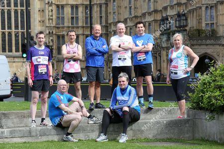 Westminster Mps Who Are Running In Sunday's London Marathon. Alistair Burt Alun Cairns Edward Timpson Dan Jarvis Graham Evans Jamie Reed Amanda Solloway And Simon Danczuk.