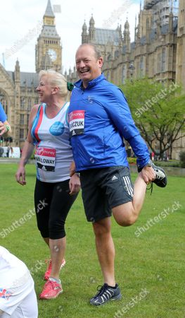 Simon Danczuk Westminster Mps Who Are Running In Sunday's London Marathon. Alistair Burt Alun Cairns Edward Timpson Dan Jarvis Graham Evans Jamie Reed Amanda Solloway And Simon Danczuk Exercising.