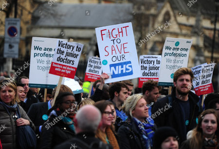 2016/04/26 Jeremy Corbyn And John Mcdonnell Join The Junior Doctors As They March From St Thomas's Hospital Past Westminster To The Department Of Health In Protest Of The New Contracts Being Imposed Upon Them.