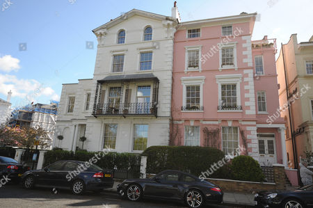 Editorial picture of Number 6 Albert Terrace (left) North West London Home Of Film Director Sam Taylor-wood. The Property Is Rented Out And Noise From The Tennants Is Causing Friction With Neighbours John Mccririck And His Wife Jenny.