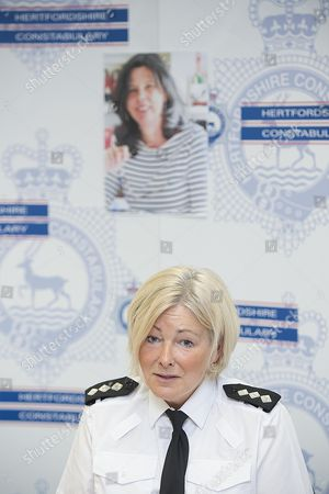 Ci Julie Wheatley Speaking At A Press Conference At Hitchin Police Station In Hertfordshire Today (11/5/16) About The Missing Children's Author Helen Bailey Who Went Missing A Month Ago.  Helen Bailey's Body Was Found On 15th July 2016.