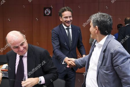 Jeroen Dijsselbloem / Euclid Tsakalotos / Luis De Guindos Jurado
