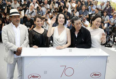 Naomi Kawase, Tatsuya Fuji and Masatoshi Nagase