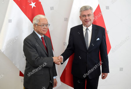 Editorial picture of President of Singapore Tony Tan Keng Yam with visit to Poland, Warsaw - 23 May 2017