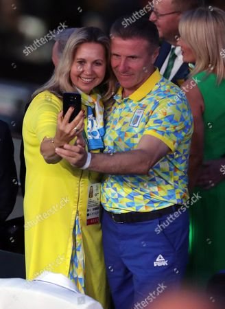 Sergey Bubka Ukraine's Noc President and Ioc Executive Board Member with His Wife Lilia Tutunik Before the Opening Ceremony of the Rio 2016 Olympic Games at the Maracana Stadium in Rio De Janeiro Brazil 05 August 2016 Brazil Rio De Janeiro