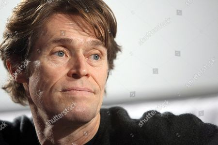 Stock Picture of Us Actor Willem Dafoe During a Masterclass at the 49th Film Festival in Thessaloniki Greece 22 November 2008 Dafoe Spoke About His Relationship with Greek Director Theodoros Angelopoulos and Presented the Film of Danish Director Lars Von Trier 'Antichrist' where He Acts Greece Thessaloniki