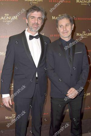 Serge Hazanavicius (L) Laurent Perez del Mar (R)