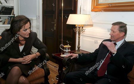 Greek Foreign Minister Dora Bakoyianni (l) Talks with Russian Defence Minister Sergey Ivanov (r) During Their Meeting in Athens Tuesday 05 December 2006 Greece Athens