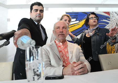 Us Actor John Malkovich (c) Gives a Press Conference During His Visit in Athens Greece 25 May 2010 Malkovich Will Perform the Play 'The Infernal Comedy - Confessions of a Serial Killer' by Michael Sturminger at the Theater Without Boundaries in Athens on 25 and 26 May Greece Athens