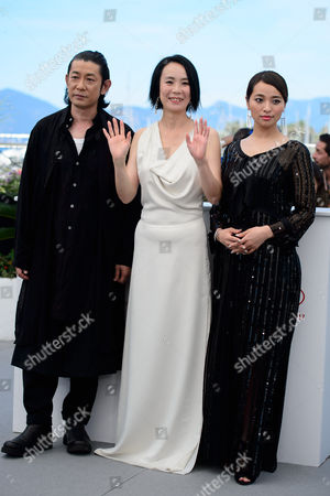 Masatoshi Nagase, Naomi Kawase and Ayame Misaki