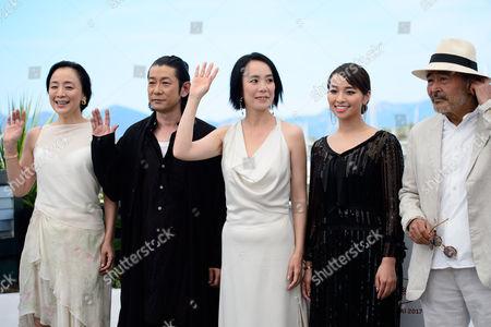 Misuzu Kanno, Masatoshi Nagase, Naomi Kawase, Ayame Misaki and Tatsuya Fuji