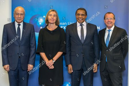 Editorial image of Meeting of the Libya Quartet in Brussels, Belgium - 23 May 2017