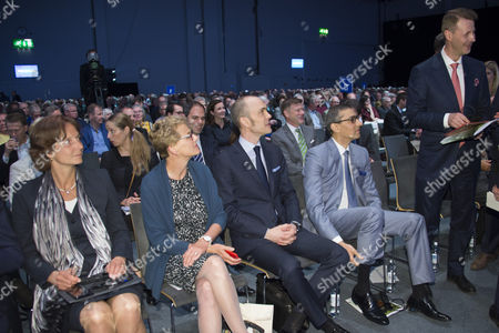 (L-R) Nokia Board members Carla Smits-Nusteling and Elizebeth Nelson, CFO Kristian Pullola, CEO Rajeev Suri  and Chairman of the Board Risto Siilasmaa during the Nokia Annual General Meeting in Helsinki, Finland, 23 May 2017.
