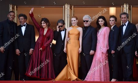 Will Smith, Gabriel Yared, Agnes Jaoui, Park Chan-Wook, Jessica Chastain, Pedro Almodovar, Fan Bingbing, Maren Ade and Paolo Sorrentino