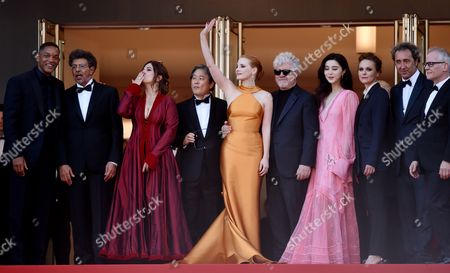 Will Smith, Gabriel Yared, Agnes Jaoui, Park Chan-Wook, Jessica Chastain, Pedro Almodovar, Fan Bingbing, Maren Ade, Paolo Sorrentino and Thierry Fremaux