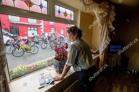 2017 An Post Ras Stage 3, Newport to Bundoran 23/5/2017. Mary Leonard watches the riders pass by her house in Crossmolina