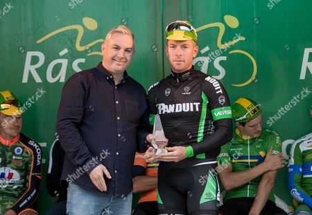 2017 An Post Ras Stage 3, Newport to Bundoran 23/5/2017. Post Insurance - Best County Team Rider for Stage 3, Philip Lavery (Tipperary Panduit) with Shane Smith (Stage Organiser)