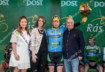 2017 An Post Ras Stage 3, Newport to Bundoran 23/5/2017. Miss An Post Ras Bundoran Mary Lenehan, Averil Tyrrell (Marketing Specialist) , Post Insurance - County Jersey winner, Philip Lavery (Tipperary Panduit) and Shane Smith (Stage Organiser)