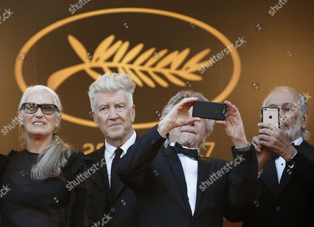 (L-R) Australian director Jane Campion, US director David Lynch, French-Polish director Roman Polanski and US director Jerry Schatzberg arrive for the 70th Anniversary ceremony during the 70th annual Cannes Film Festival, in Cannes, France, 23 May 2017. The festival runs from 17 to 28 May.