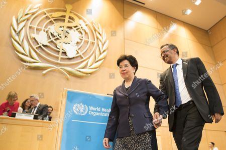 Margaret Chan and Tedros Adhanom