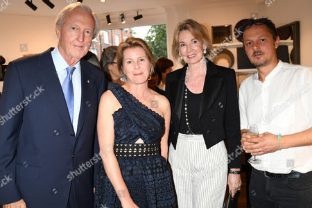 Galen Weston, Viscountess Serena Linley, Hilary Weston and Jonathan Yeo