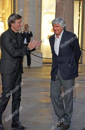 Pietro Beccari, President and CEO Fendi with the artist Giuseppe Penone