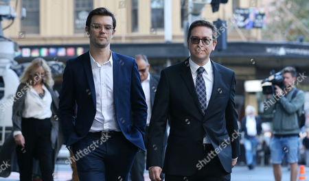 Thomas Zinn (R), the partner of Lindt Cafe siege victim Tori Johnson, arrives to the Lindt Cafe siege inquest findings in Sydney, New South Wales (NSW), Australia, 24 May 2017. NSW Coroner Michael Barnes found that gunman Man Haron Monis, who held 18 people hostage inside a Lindt cafe in Sydney in December 2014, was the solely responsible for the deaths and injuries during the Lindt Cafe siege, adding that authorities made major errors in the operation before a hostage was killed.
