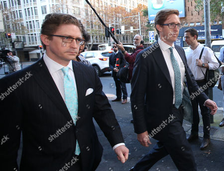Sandy (L) and Angus Dawson, the brothers of Lindt Cafe siege victim Katrina Dawson, arrive to the Lindt Cafe siege inquest findings in Sydney, New South Wales (NSW), Australia, 24 May 2017. NSW Coroner Michael Barnes found that gunman Man Haron Monis, who held 18 people hostage inside a Lindt cafe in Sydney in December 2014, was the solely responsible for the deaths and injuries during the Lindt Cafe siege, adding that authorities made major errors in the operation before a hostage was killed.