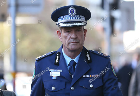 Deputy Commissioner Dave Hudson arrives to the Lindt Cafe siege inquest findings in Sydney, New South Wales (NSW), Australia, 24 May 2017. NSW Coroner Michael Barnes found that gunman Man Haron Monis, who held 18 people hostage inside a Lindt cafe in Sydney in December 2014, was the solely responsible for the deaths and injuries during the Lindt Cafe siege, adding that authorities made major errors in the operation before a hostage was killed.