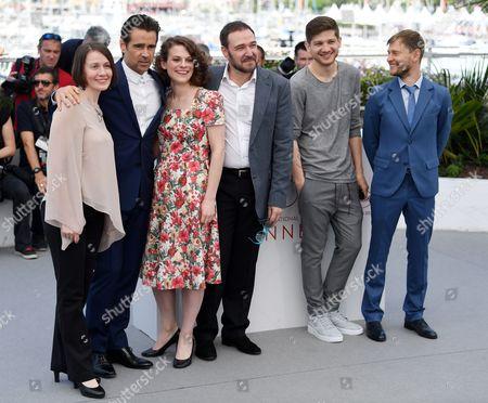 Stock Picture of Olga Dragunova, Colin Farrell, Darya Zhovner, Artem Tsypin, Kantemir Balagov and Nikolay Yankin