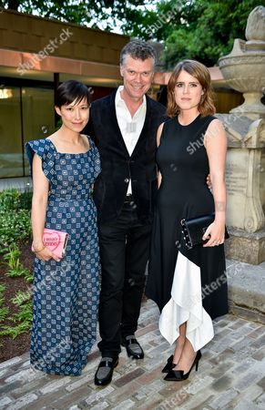 Sandra Choi, Pierre Denis and Princess Eugenie of York
